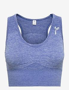 Dark Grey Elevate Crop Top - sort bras:high - melange blue