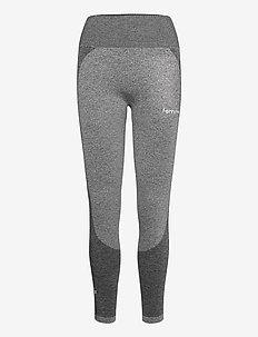 Black Elevate Wave Leggings - sportleggings - melange grey