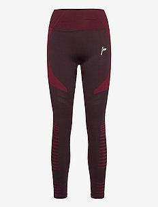 Burgundy Future Leggings - sportleggings - burgundy