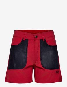 Field Shorts - spodenki turystyczne - dark red and blue