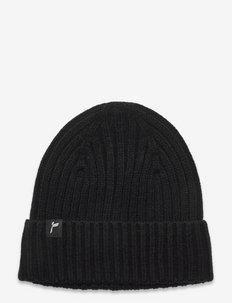Knitted Beanie - kapelusze - black