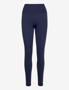 Scrunch Seamless Leggings - running & training tights - navy blue