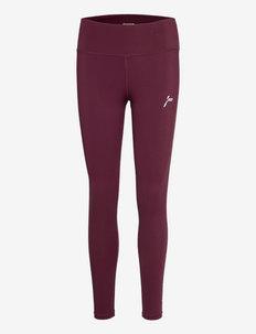 Scrunch Tights - running & training tights - dark red