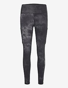 Grey Tie Dye Leggings - löpnings- och träningstights - black/grey