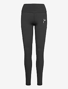 Black Techna Tights - løpe- og treningstights - black