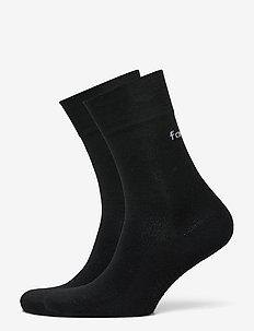 2-Pack Black Wool Knit Socks - sockor - black