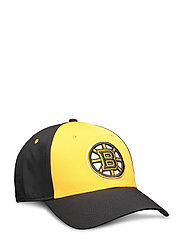 Boston Bruins Iconic Defender Stretch Fit Cap - BLACK/YELLOW GOLD