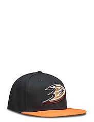 Anaheim Ducks Iconic Defender Snapback Cap - BLACK/DARK ORANGE