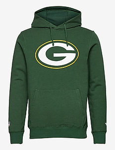 Green Bay Packers Mid Essentials Crest Graphic Hoodie - hoodies - dark green