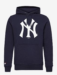 New York Yankees Mid Essentials Crest Graphic Hoodie - hettegensere - navy
