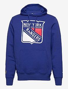New York Rangers Mid Essentials Crest Graphic Hoodie - hoodies - royal