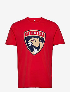 Florida Panthers Iconic Primary Colour Logo Graphic T-Shirt - t-shirts - red