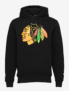 Chicago Blackhawks Mid Essentials  Primary Colour Logo - hoodies - black