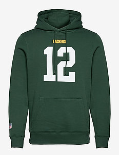 Green Bay Packers Iconic Name & Number Graphic Hoodie - basic sweatshirts - dark green