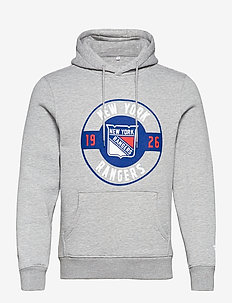 New York Rangers Iconic Circle Start Graphic Hoodie - hupparit - sports grey