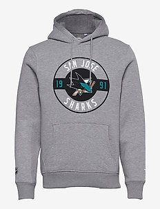 San Jose Sharks Iconic Circle Start Graphic Hoodie - hoodies - sports grey