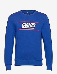 New York Giants Coach Core Graphic Crew Sweatshirt - overdeler - royal