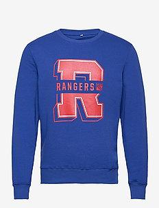 New York Rangers College Letter Core Graphic Crew Sweatshirt - overdele - royal