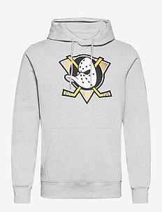 Anaheim Ducks Value Essentials Overhead Hoodie - hættetrøjer - sports grey