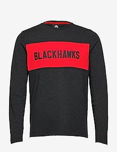 Chicago Blackhawks Iconic Back To Basics Long Sleeve T-Shirt - top met lange mouwen - charcoal