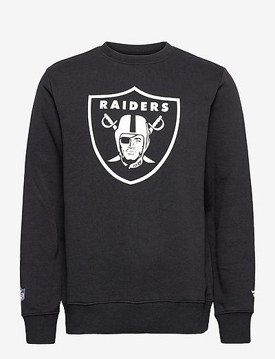 Las Vegas Raiders Mid Essentials Crest Crew Sweatshirt - sweats - black