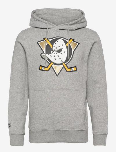Anaheim Ducks Mid Essentials Crest Graphic Hoodie - pulls a capuche - sports grey