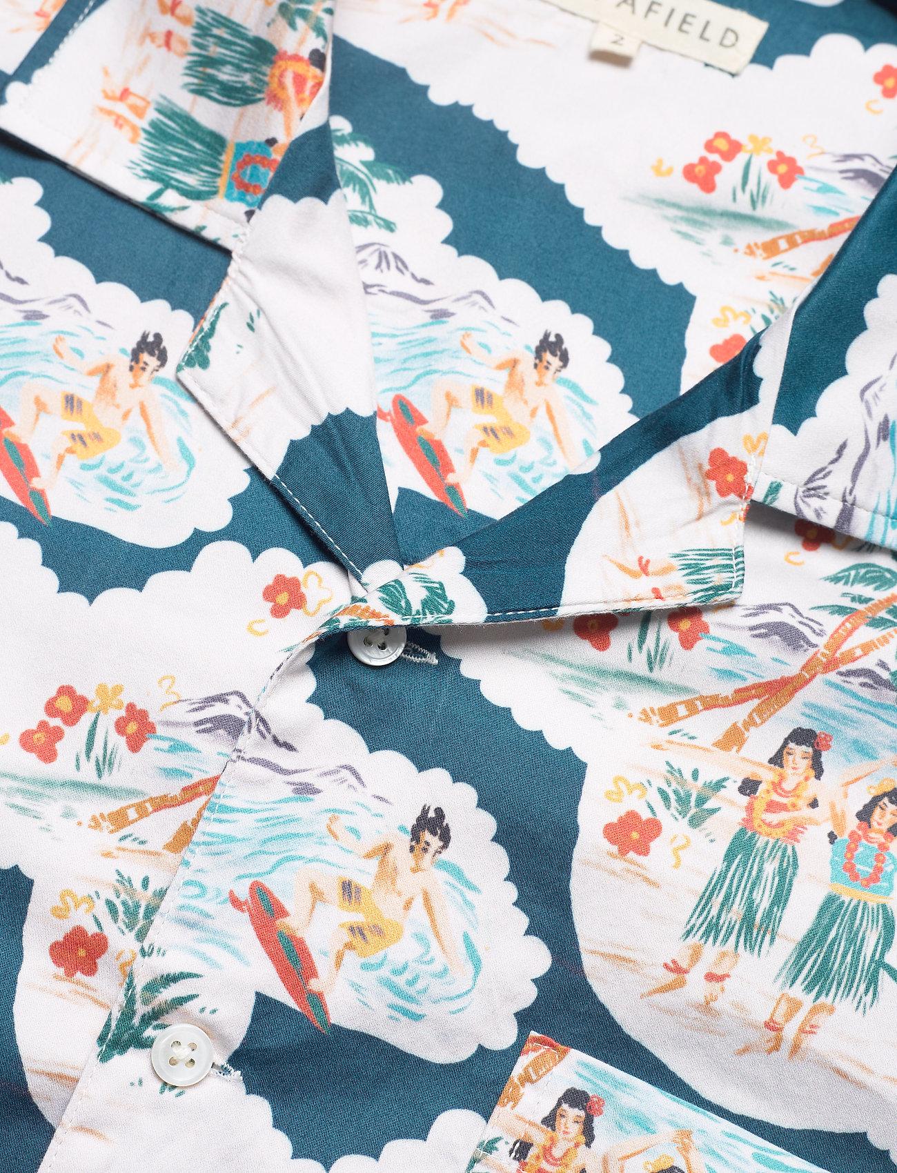 Far Afield - Stachio S/S Shirt (Waikiki) - geruite overhemden - blue / white - 3