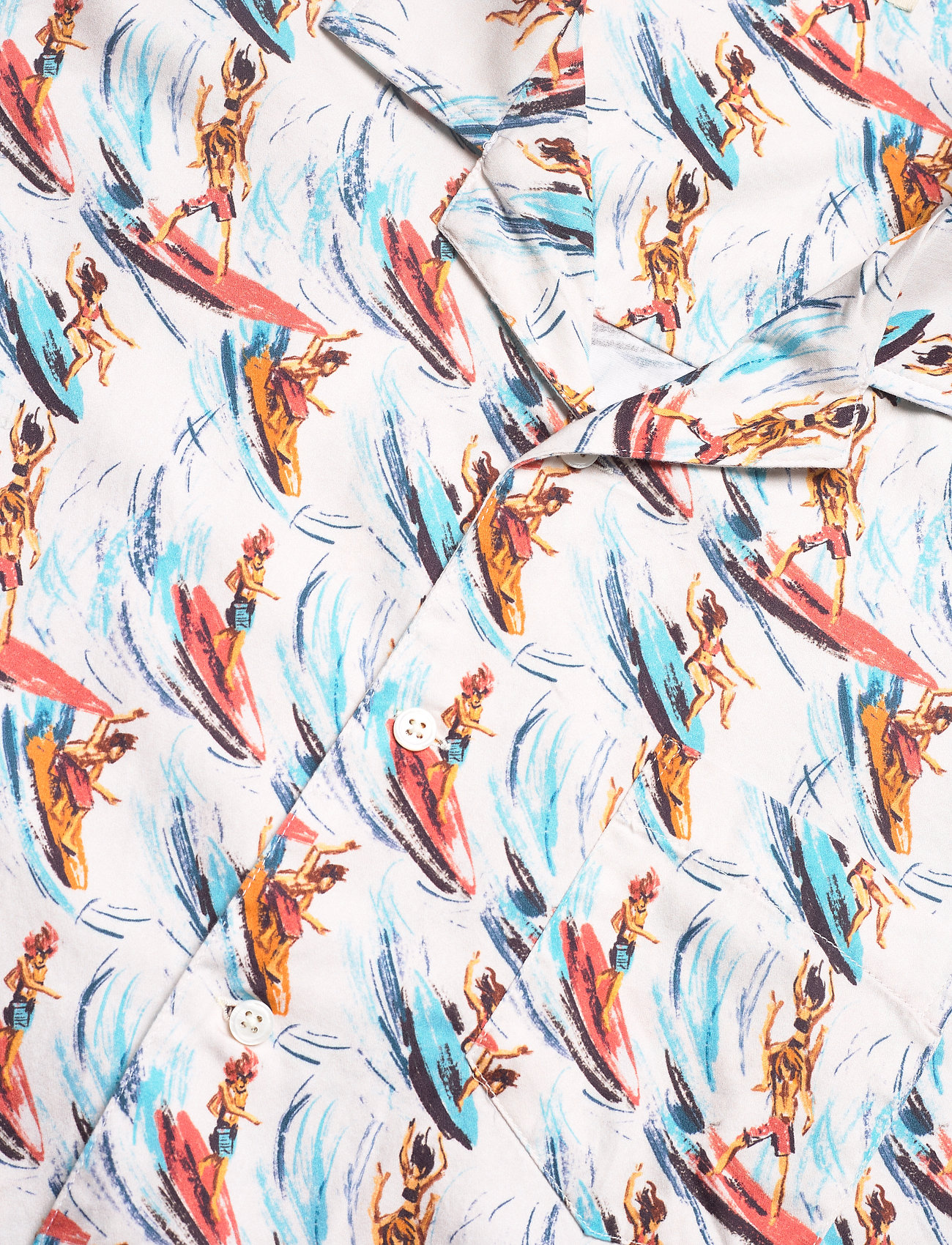 Far Afield - Stachio S/S Shirt (Slipstream) - geruite overhemden - white / multi - 3