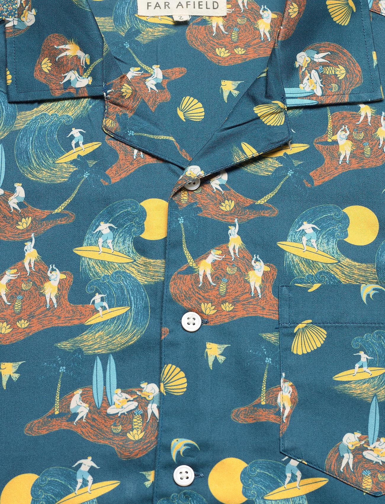Far Afield - Stachio S/S Shirt (Surf Story) - geruite overhemden - blue - 2