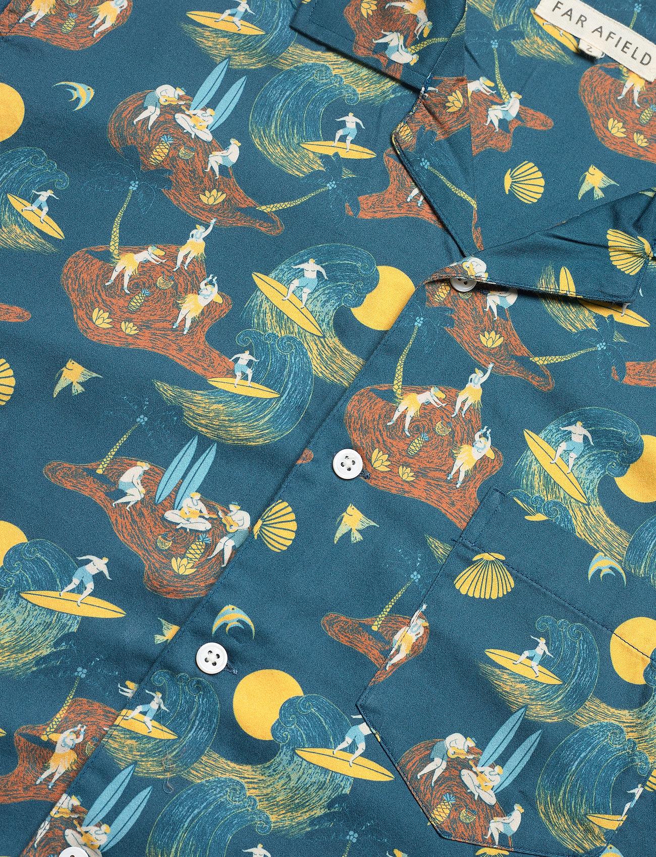 Far Afield - Stachio S/S Shirt (Surf Story) - geruite overhemden - blue - 3