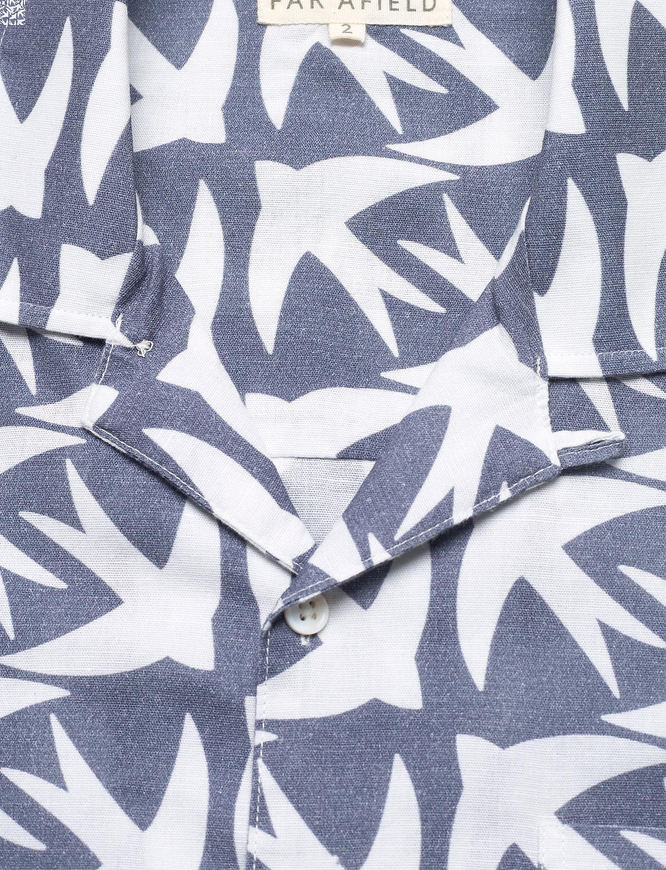 Far Afield - Selleck S/S Shirt (Swallow) - geruite overhemden - blue - 2