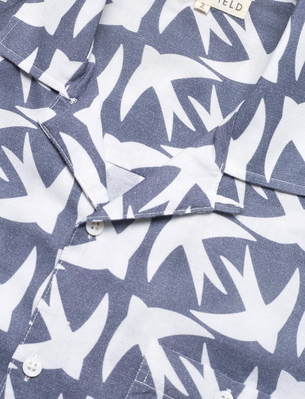 Far Afield - Selleck S/S Shirt (Swallow) - geruite overhemden - blue - 3