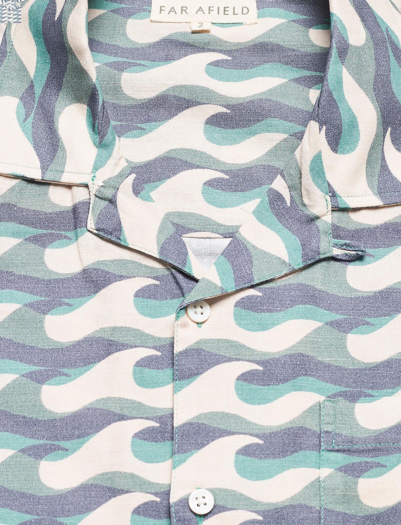 Far Afield - Selleck S/S Shirt (Wavista) - geruite overhemden - blue - 2