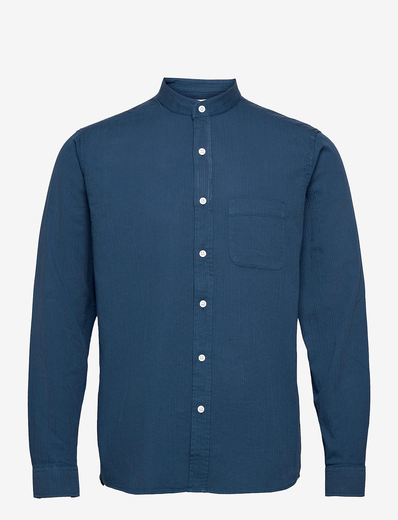 Far Afield - Twombly L/S Shirt - Textured Stripe - linnen overhemden - ensign blue - 0