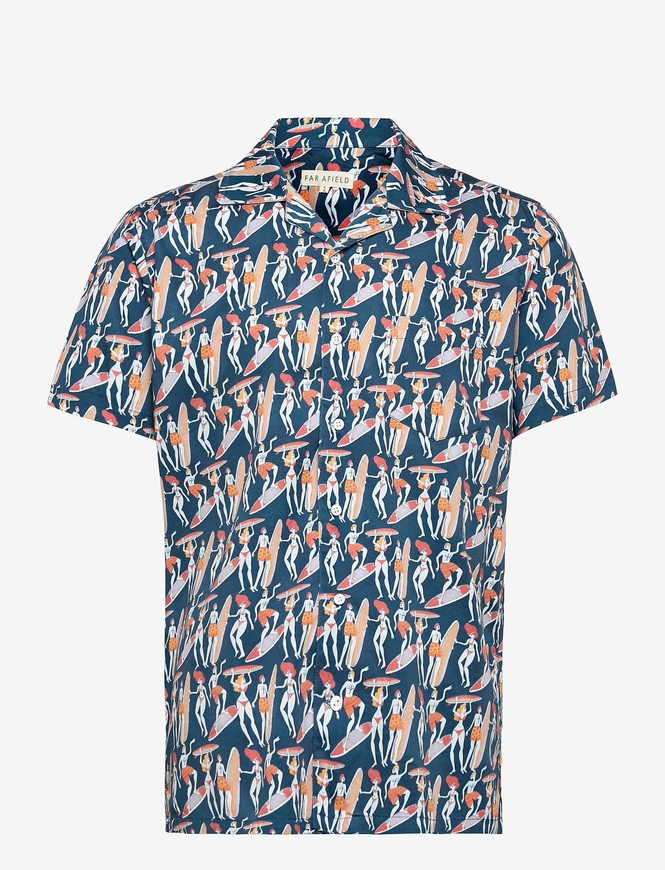 Far Afield - Stachio S/S Shirt (Malibu) - chemises à carreaux - blue - 0
