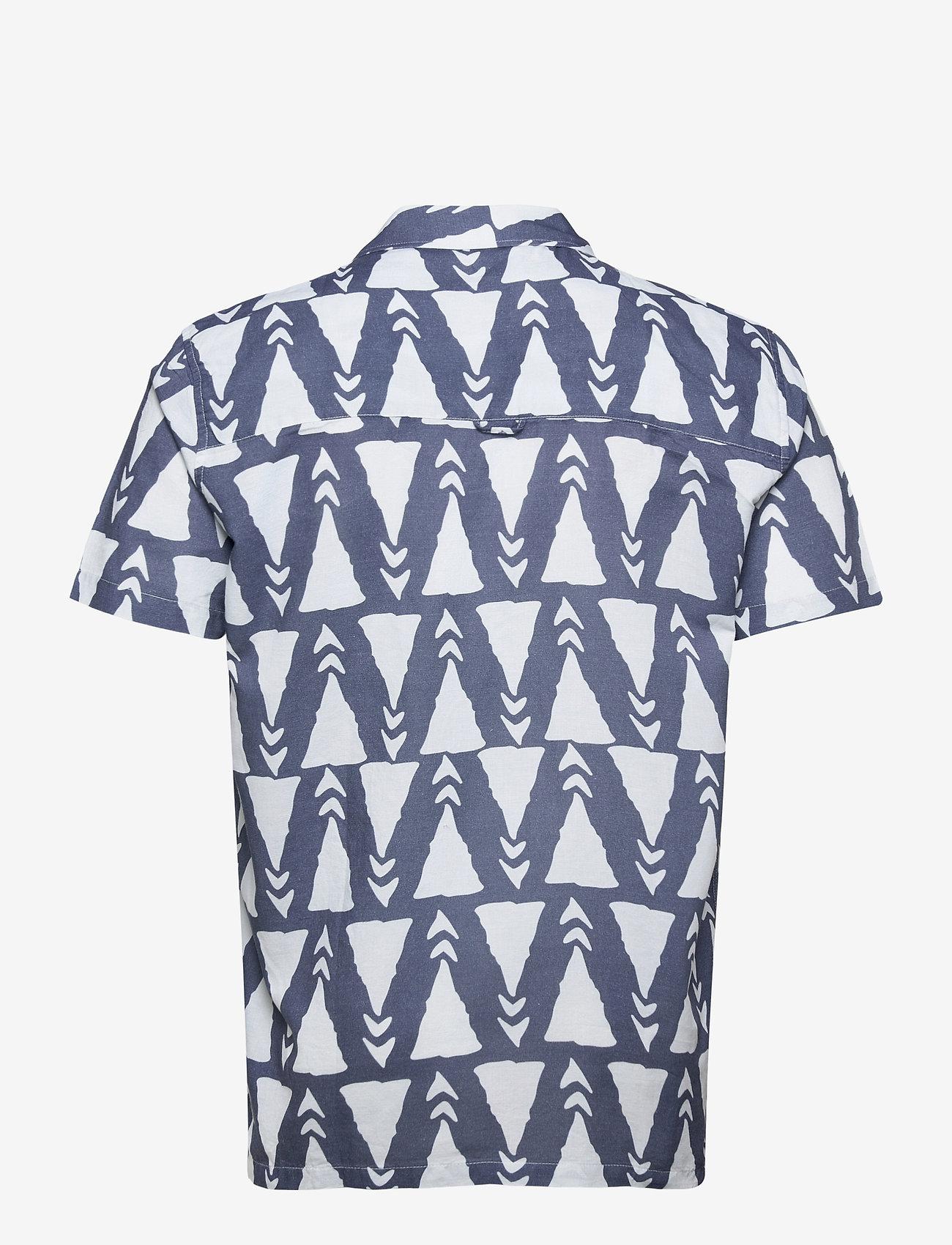 Far Afield - Selleck S/S Shirt (Trails) - chemises à carreaux - blue - 1
