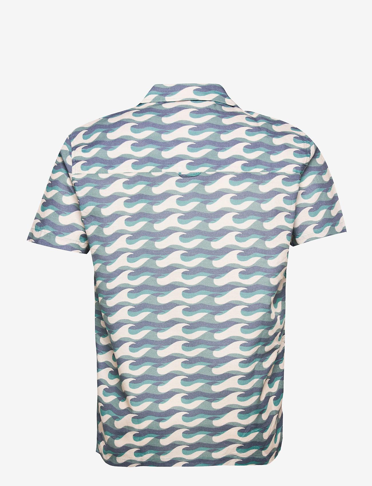 Far Afield - Selleck S/S Shirt (Wavista) - geruite overhemden - blue - 1