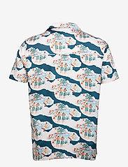 Far Afield - Stachio S/S Shirt (Waikiki) - geruite overhemden - blue / white - 1