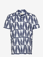 Far Afield - Selleck S/S Shirt (Trails) - chemises à carreaux - blue - 0