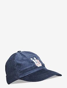 Carlos Cap - Peace Embriodery (Cord) - bonnets & casquettes - navy