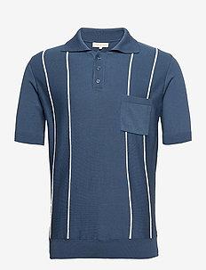 Alfaro S/S Polo - polos à manches courtes - ensign blue / white sand