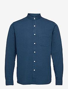 Twombly L/S Shirt - Textured Stripe - chemises à carreaux - ensign blue