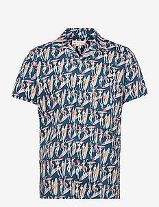 Stachio S/S Shirt (Malibu) - chemises à carreaux - blue