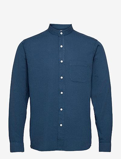Twombly L/S Shirt - Textured Stripe - koszule w kratkę - ensign blue
