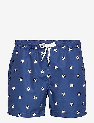 Printed Swimshorts (Recycled Plastic - Acid Smiles) - shorts de bain - navy