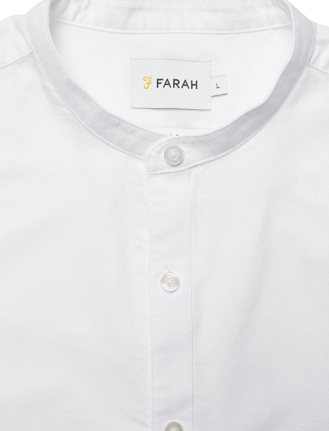 Farah BREWER SLM LS GDAD S - Skjorter WHITE - Menn Klær