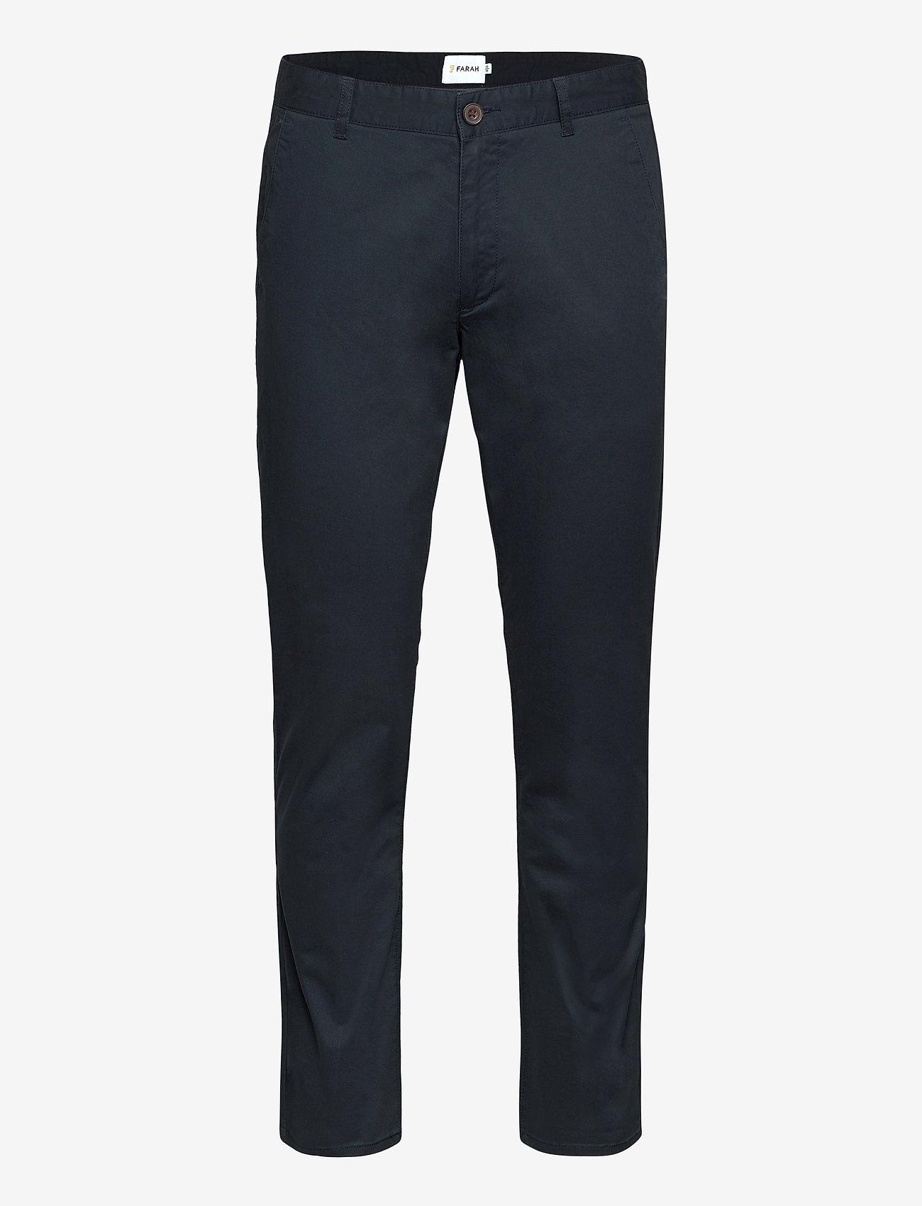 Farah - ELM TWILL CHINO - pantalons chino - true navy - 0