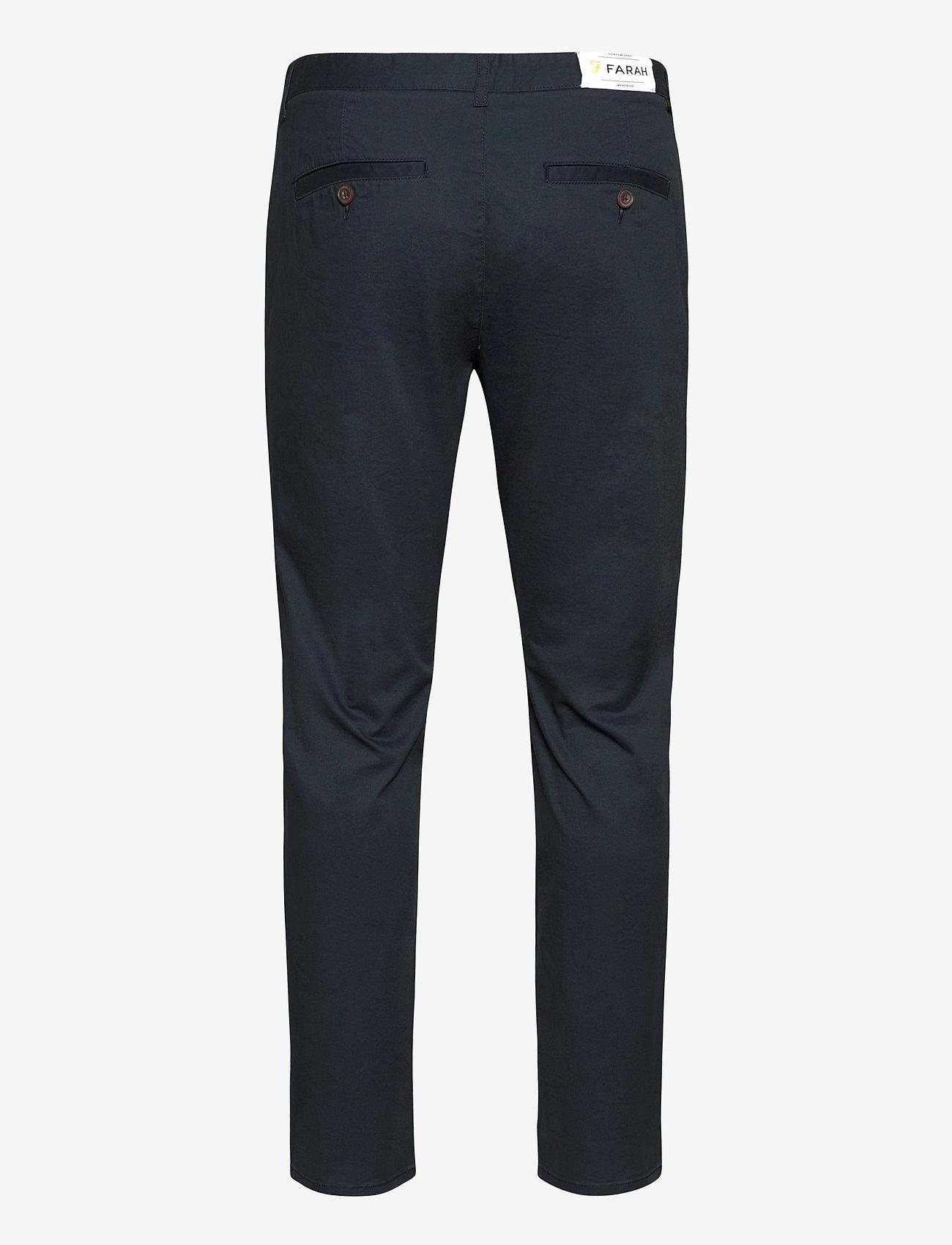 Farah - ELM TWILL CHINO - pantalons chino - true navy - 1