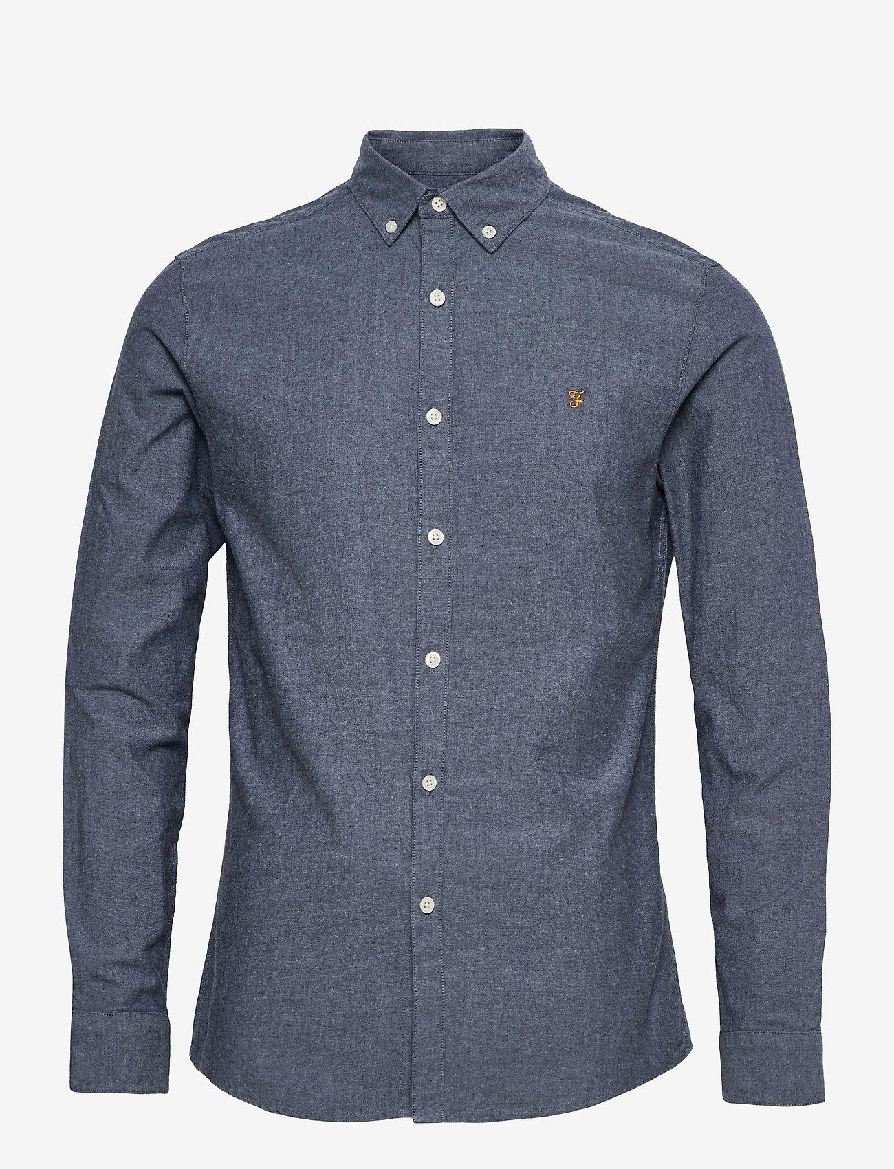 Farah - STEEN SLIM FIT SHIRT - linnen overhemden - bb blue bell - 0
