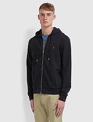 Farah - KYLE HOODIE - basic sweatshirts - black marl - 0
